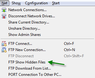 ftp show hidden files total commander