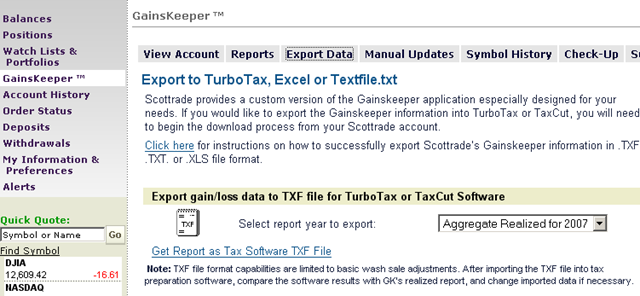Tax Season – How To Properly Import Trades From Scottrade And